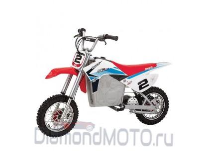 Кроссовый электробайк Razor SX500 McGrath бело/сине/красный