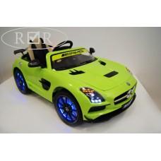 RiVer-AuTo Детский электромобиль Mercedes-Benz SLS A333AA VIP (лицензионная модель), р.Зеленый