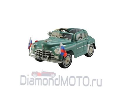 Электромобиль Rivertoys ГАЗ Победа С021СР зеленый