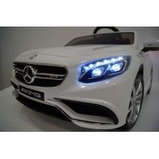 Mercedes-Benz S63 (ЛИЦЕНЗИОННАЯ МОДЕЛЬ) с дистанционным управлением белый +комплект резины