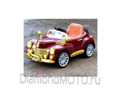 Электромобиль Bentley E888КХ бордо золото кожа Rivertoys