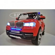 RiVer-AuTo Детский электромобиль BMW T005TT с дистанционным управлением (ПОЛНЫЙ ПРИВОД), р.Красный