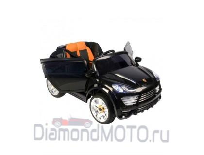 Электромобиль Rivertoys Porshe Cayenne Turbo О001ОО Vip Restyling черный