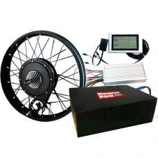 Комплект Charger 2000w: мотор-колесо, переднее колесо, аккумулятор и контроллер