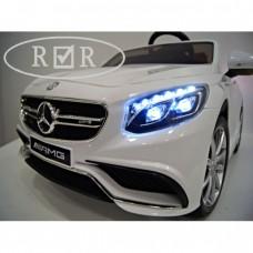 RiVer-AuTo Детский электромобиль Mercedes-Benz S63 (ЛИЦЕНЗИОННАЯ МОДЕЛЬ) с дистанционным управлением, р.Белый