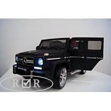 RiVer-AuTo Детский электромобиль Mercedes-Benz G63 (ЛИЦЕНЗИОННАЯ МОДЕЛЬ) с дистанционным управлением, р.Черный матовый
