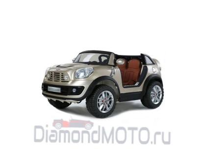 Электромобиль R-toys BMW Mini золотой