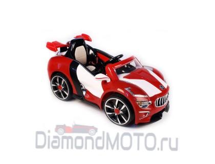 Электромобиль RiverToys Maserati А222АА с кожаным сиденьем красный
