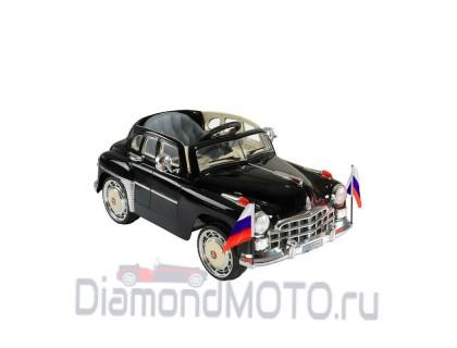 Электромобиль Rivertoys ГАЗ Победа С021СР черный