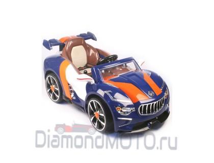 Электромобиль RiverToys Maserati А222АА с кожаным сиденьем синий