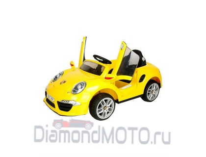 Электромобиль Rivertoys Porsche E911KX желтый
