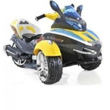 1toy трицикл аккум., р-р 107х66х61см, мотор 35Вт,р/у,желт.