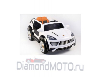 Электромобиль Rivertoys Porshe Cayenne Turbo О001ОО Vip Restyling белый