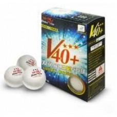 Double Fish 40+ 3, 6 мячей в упаковке, белые.