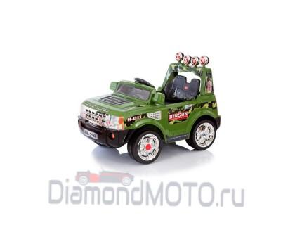 Электромобиль Jetem Range 2-х моторный зелёный