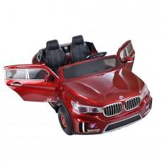 Электромобиль Shine Ring 2*12V/10Ah (2x35w, 2,4G R/C, надув, сиденье кожа*2) красный SR998