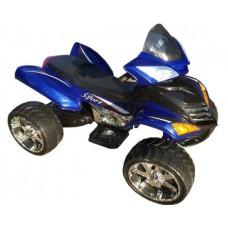 Rivertoys Детский электроквадроцикл Е005КХ синий кожа