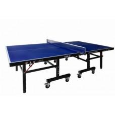 Профессиональный теннисный стол, толщина 25 мм, колеса 100 мм с сеткой D99-5, 274 х 152,5 х 76 см
