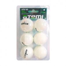 ATB102 Мячи для настольного тенниса Атеми 1, бел., 6 шт.
