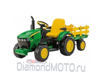 Электромобиль Peg Perego JD Ground Force w/trailer