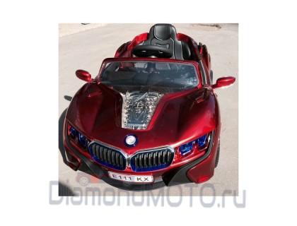Электромобиль Rivertoys BMW E111KX Vip вишневый