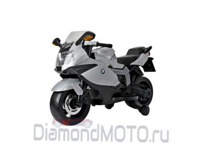 Электромотоцикл R-toys BMW серебристый