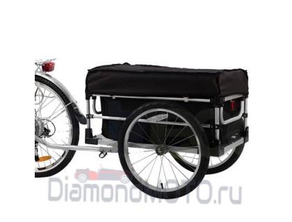 Грузовой велоприцеп большой с тентом и сумкой VIC-1305 (BTS10)