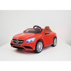 Mercedes-Benz S63 (ЛИЦЕНЗИОННАЯ МОДЕЛЬ) с дистанционным управлением красный + комплект резины