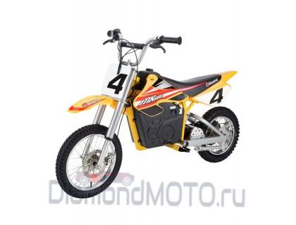 Кроссовый электробайк Razor MX 650 желтый