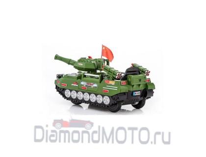 Электромобиль Rivertoys Танк С222СР зеленый