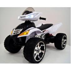 Rivertoys Детский электроквадроцикл Е005КХ белый кожа