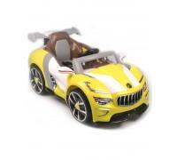 Электромобиль RiverToys Maserati А222АА с кожаным сиденьем желтый