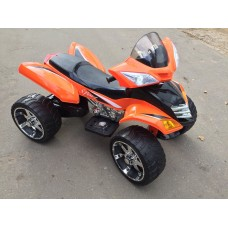 Rivertoys Детский электроквадроцикл Е005КХ оранжевый кожа